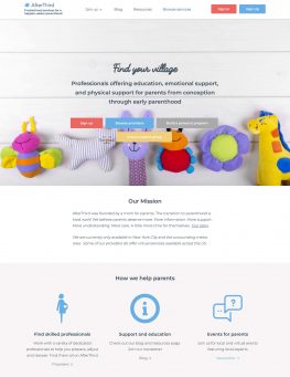 AfterThird website homepage screenshot