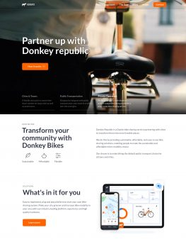 Donkey Partners website homepage screenshot
